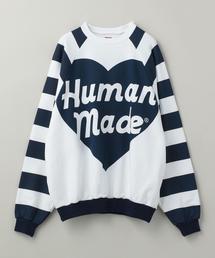HUMAN MADE(ヒューマン メイド)RAGLAN BIG HEART SWEAT