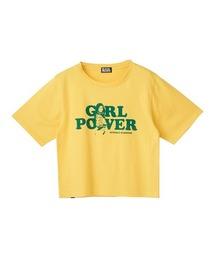 GIRL POWER ショートTシャツイエロー