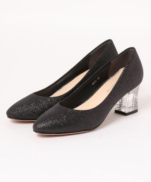 JILLSTUART shoe(ジルスチュアート シュー)の「クリアヒールラウンドトゥパンプス(パンプス)」|ブラック
