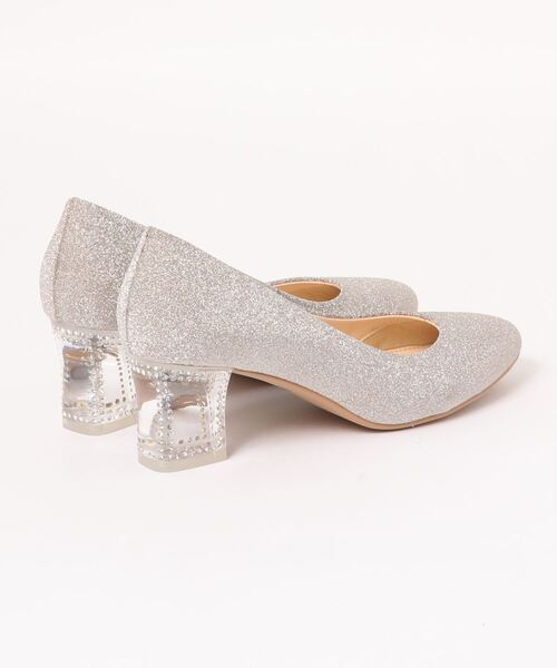 JILLSTUART shoe(ジルスチュアート シュー)の「クリアヒールラウンドトゥパンプス(パンプス)」|詳細画像