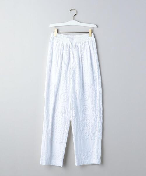 <dahl'ia ×6(ROKU)>WHITE QUILTED PANTS/パンツ Ψ
