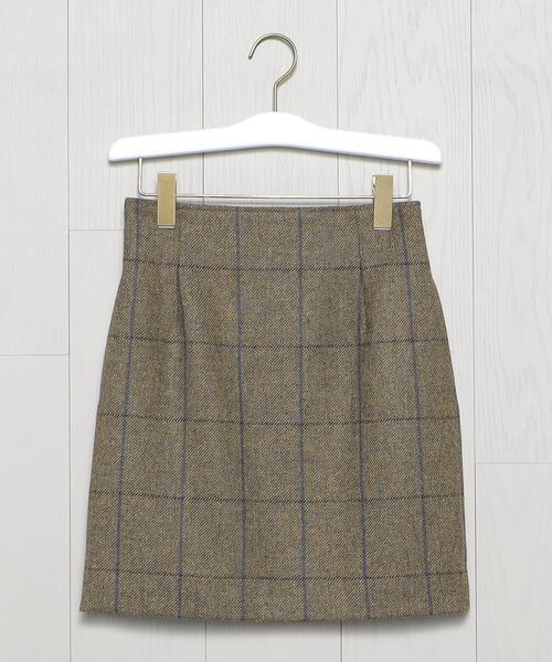 <H>LOVAT TWEED MINI SKIRT/スカート
