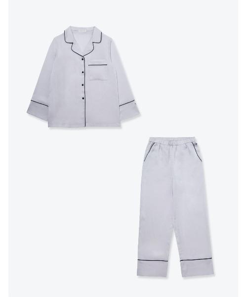 SLEEPY SLEEPY(スリーピー スリーピー)ヴィンテージサテンパジャマ 長袖&ロングパンツ/セット レディース ボックスパッケージ
