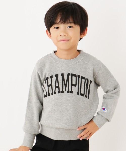 【100-140cm】Champion コットン裏毛プルオーバー