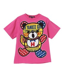 PATCH BEAR Tシャツ【L】ピンク