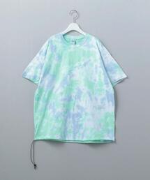 <HERMOSA TIE DYE>DRAWSTRING T-SHIRT/Tシャツ Ψ
