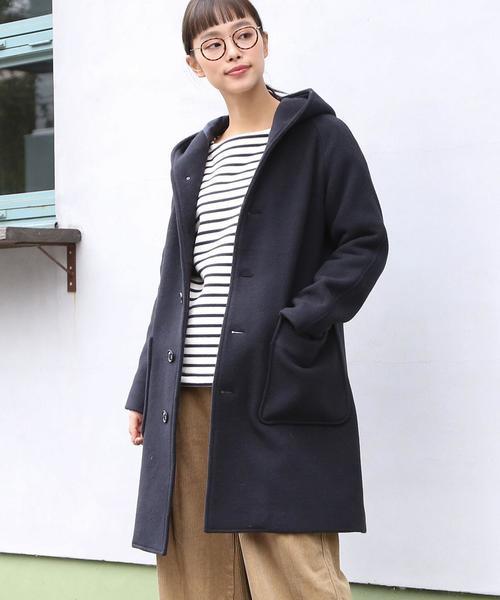 【先行販売】カバーリングウールミディアムフーデッドコート