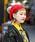 無(ム)の「ボンボンニットベレー(ハンチング/ベレー帽)」|レッド