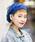 無(ム)の「ボンボンニットベレー(ハンチング/ベレー帽)」|ブルー