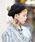 無(ム)の「ボンボンニットベレー(ハンチング/ベレー帽)」|ブラック