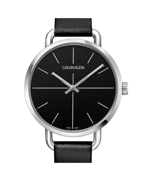 [カルバンクライン] CALVIN KLEIN 腕時計 Even Extension(イーブン エクステンション) 2針 シルバー×ブラック