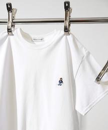 FREAK'S STORE(フリークスストア)のスケートベア刺繍SS TEE/ワンポイント刺繍Tシャツ(Tシャツ/カットソー)
