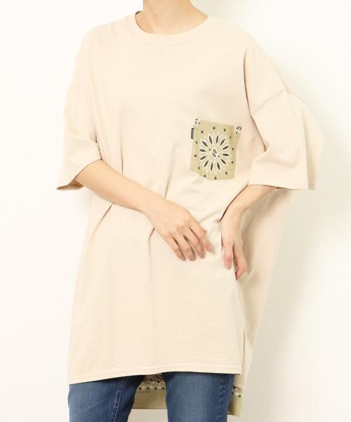 ∴【 HAV-A-HANK / ハバハンク 】BANDANNA POCKET T-SHIRTS バンダナ ポケットTシャツ ポケT・・
