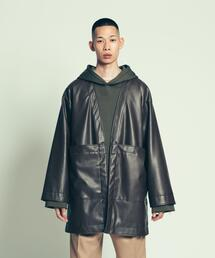 UNITED ARROWS & SONS(ユナイテッドアローズ&サンズ)SYNTHETIC LEATHER HAORI