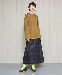 <O'NEIL of DUBLIN>CLASSIC CHECK MAXI SKIRT/スカート.