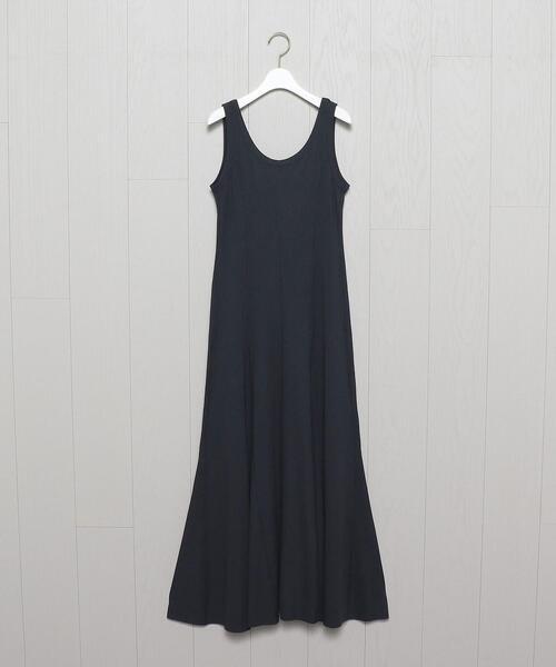 <H>RIB SHAPE DRESS/ワンピース