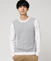 MIND BLOW(マインドブロウ)の切り替えニットTシャツ(Tシャツ/カットソー)