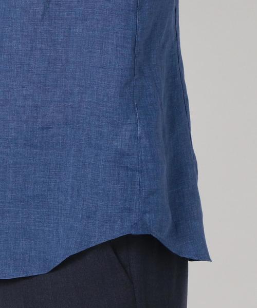 SD: 【ALBINI社製生地】 ウォッシュド リネン シャツ (ブルー)