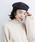 merlot(メルロー)の「ウール混ヘリンボーン柄ベルト付きベレー帽8112(ハンチング/ベレー帽)」 詳細画像