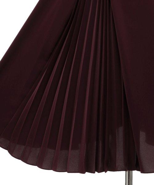 Dorry Doll(ドリードール)の「ノースリーブバックプリーツスカート ミモレ丈ワンピースドレス Luxe brille(ドレス)」|詳細画像