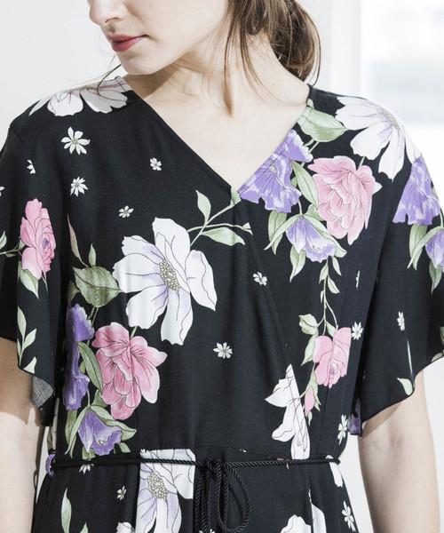 【STYLEBAR】オリジナルフラワーラップドレス