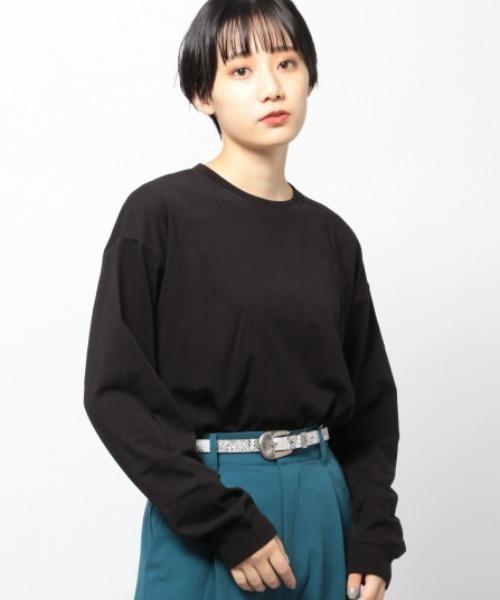 PAGEBOY(ページボーイ)の「BASICロンT(Tシャツ/カットソー)」 ブラック