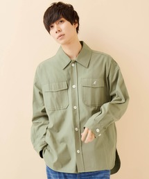 KANGOL/カンゴール 別注 オーバーサイズ ツイル CPO シャツ シャツジャケット/2020SPRINGグリーン系その他