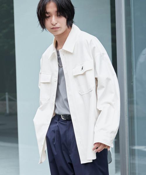 KANGOL/カンゴール 別注 オーバーサイズ ツイル CPO シャツ シャツジャケット