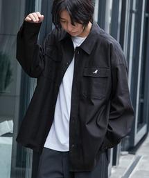 KANGOL/カンゴール 別注 オーバーサイズ ツイル CPO シャツ シャツジャケット/2020SPRINGブラック