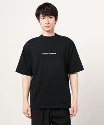 HYS LOGOモックネック オーバーサイズTシャツブラック