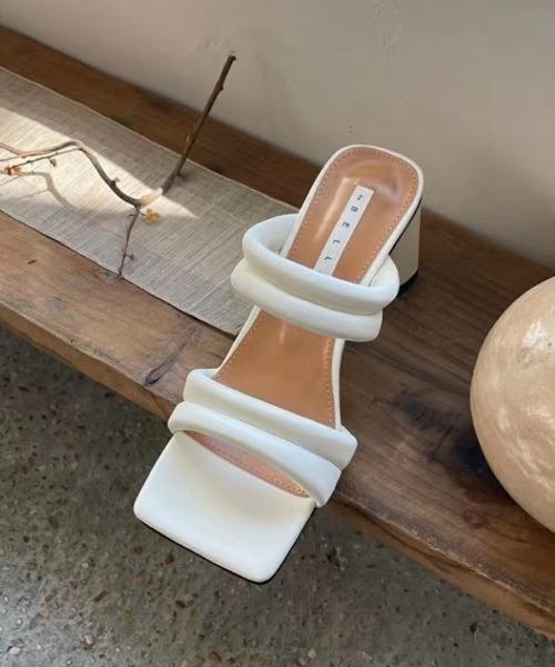 【chuclla】【2021/SS】Macaroons puffer mule sandal chs146