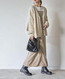 【WEB限定】秋冬に馴染むスウェード風素材。2WAYジャンパースカート