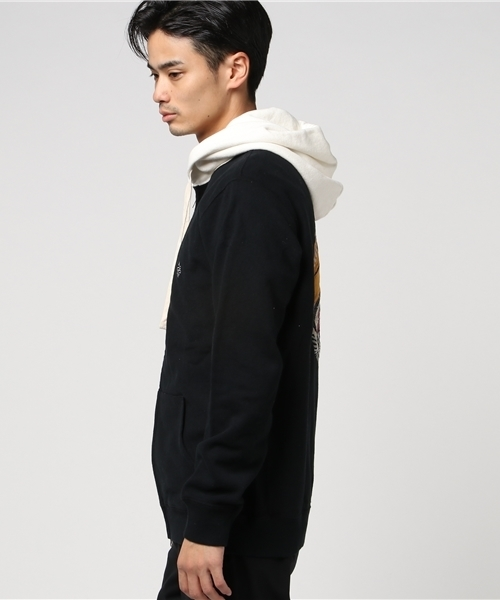 Tiger Embroidery Zip Parka