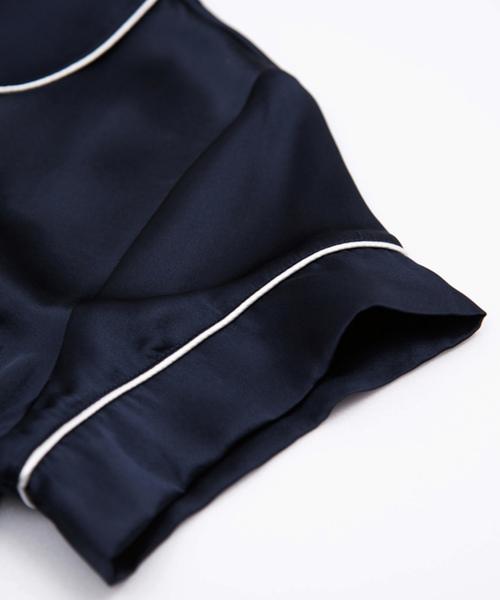 SLEEPY SLEEPY(スリーピースリーピー)の「SLEEPY SLEEPY(スリーピー スリーピー)シルクパジャマ 半袖&ショートパンツ/セット レディース ボックスパッケージ(ルームウェア/パジャマ)」|詳細画像