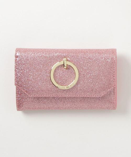 グリッター三つ折り財布