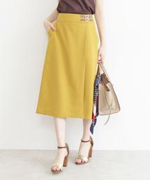 N.(N. Natural Beauty Basic)(エヌエヌナチュラルビューティーベーシック)の◆ベルトマークラップ風スカート(スカート)