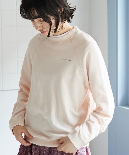 bulle de savon(ビュルデサボン)の「ロゴ トレーナー(スウェット)」|ピンク