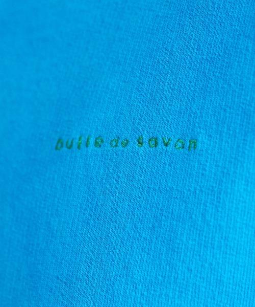 bulle de savon(ビュルデサボン)の「ロゴ トレーナー(スウェット)」|詳細画像