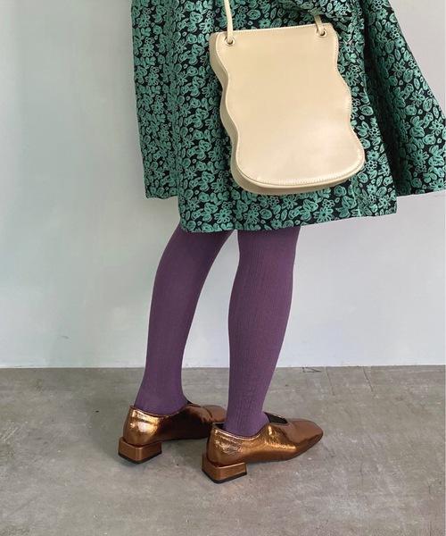 【SANSeLF】 cable knit tights sank5