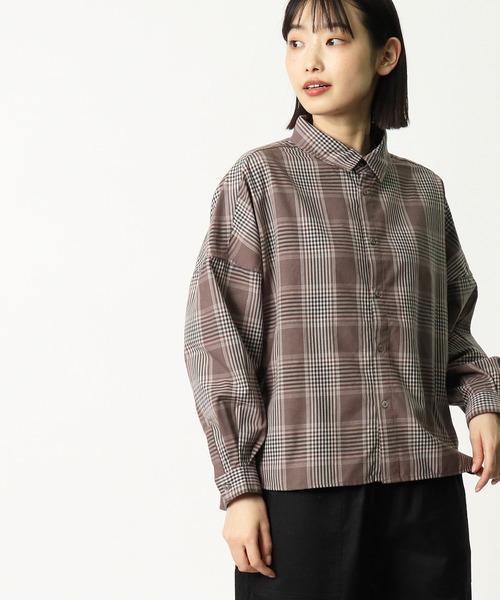 【 GRANDMA MAMA DAUGHTER / グランマ ママ ドーター 】 チェックショートシャツ GS932401 KTI・・