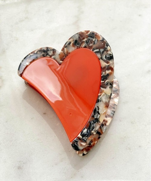 TWO-TONE HEART HAIR CLIP / THEATRE PRODUCTS