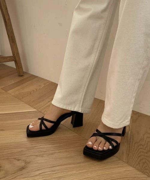 【chuclla】【2021/SS】Platform strap chunky-heel sandals chs147