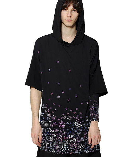 679bd53c77942 ankoROCK(アンコロック)の「病みかわいいバラバラフーディーTシャツ -メガビッグ-