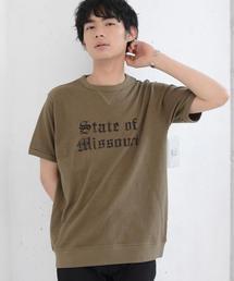 ガゼットスラブカレッジプリントTシャツ