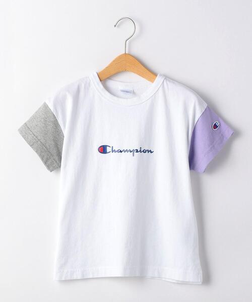 【キッズ】〔別注〕CHAMPION(チャンピオン)クレイジーパターンTシャツ