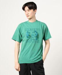 STILL CRAZY刺繍 Tシャツグリーン