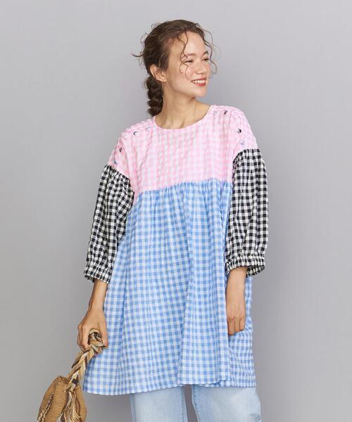 <Tach clothing> ギンガムチェック チュニックワンピース