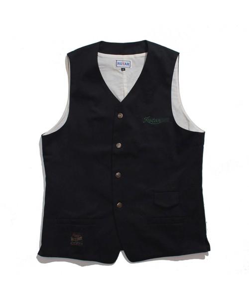 Twill Ciassical Vest / ベスト / ワンポイント / 刺繍