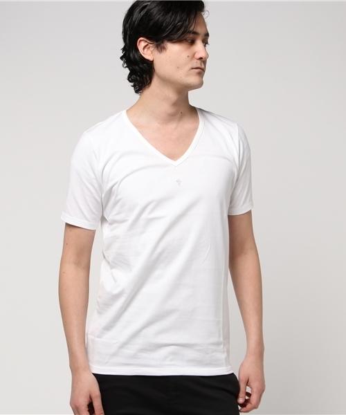 kiryuyrik(キリュウキリュウ)の「VネックTシャツ(Tシャツ/カットソー)」|ホワイト