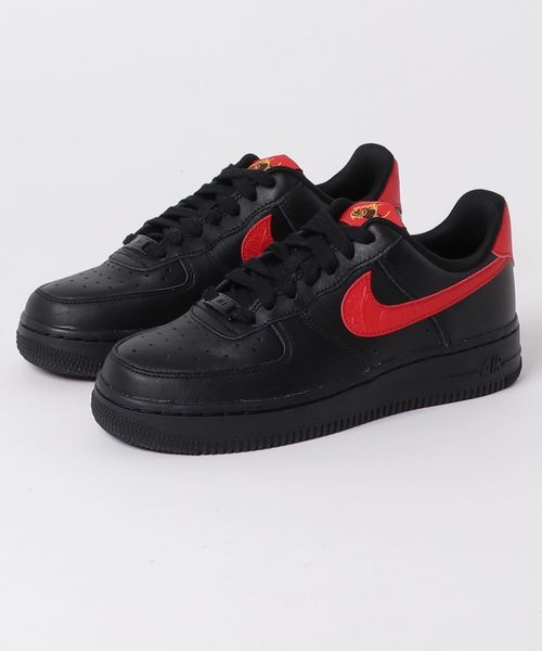 NIKE W AIR FORCE 1 '07 F (BLACK/UNIVERSITY RED) 【SP】